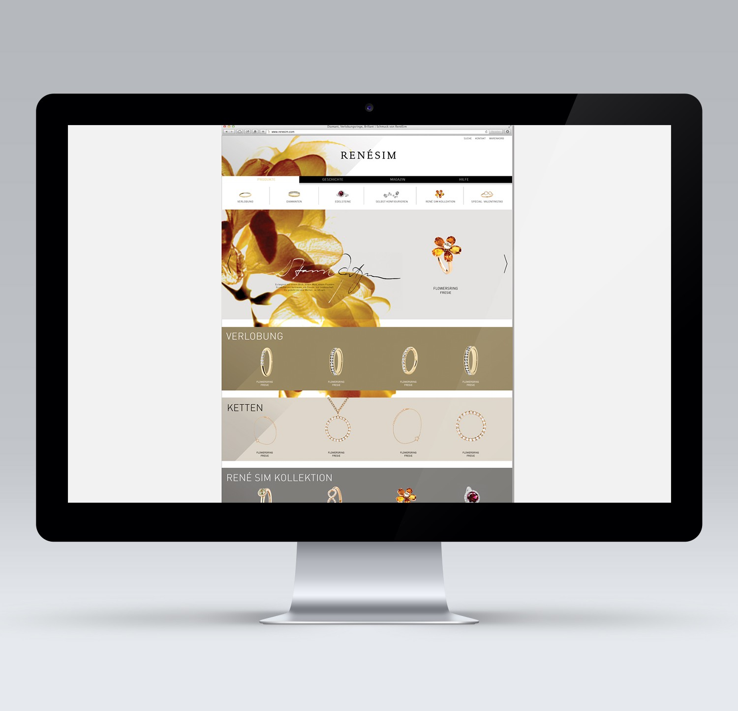 E Commerce Webdesign Layout Alessia Corallo